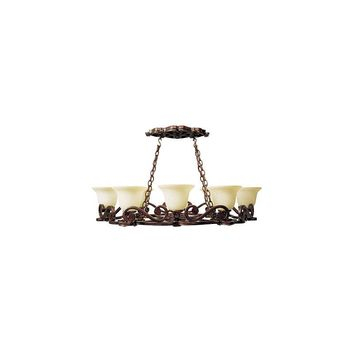 Jeremiah Toscana 8 Light Pot Rack Light