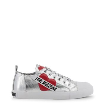Love Moschino Grey Round Toe Sneakers