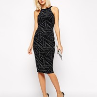 River Island Sequin Panelled Bodycon Dress at asos.com