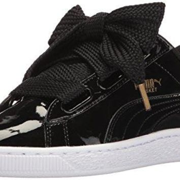 PUMA Women's Basket Heart Patent Wn's Fashion Sneaker