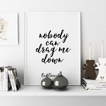 Print Song Lyrics Minimalist Poster One direction ONE DIRECTION ART Typography Art  quote Quote Print Living Room Decor Valentine's Poster.