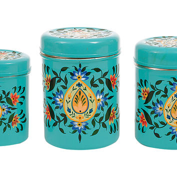 "Metal Canisters, 5.5"", Set of 3, Covered Serving Dishes & Tureens"