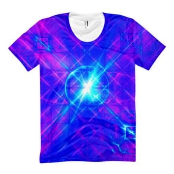 Cyber Love || Women's sublimation t-shirt — Future Life Fashion
