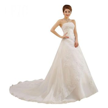 Princess Lace with Train Wedding Dresses Bridal Gowns