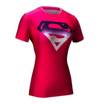 Marvel Women Armour Superhero Superman Compression Tights Under Tee Shirts Tops Many Colors FREE SHIPPING!