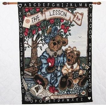 Boyds Bear The Lesson Wall Hanging-HWBBTL