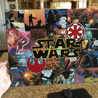 Star Wars Comic Book Collage
