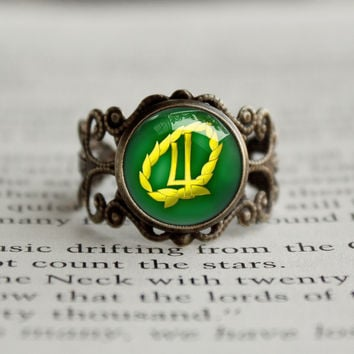 Sailor Moon Sailor Jupiter Laurel Symbol antique style BRONZE Ring