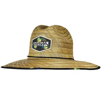 Bull Dolphin Lifeguard Fishing Stretch Straw Hat