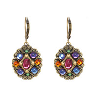 Michal Golan Prismatic Collection Round Leverback Drop Earrings