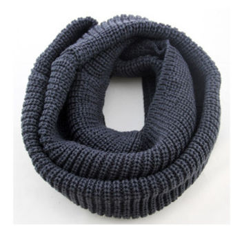 Arionna Wool Knitted Scarf Steel