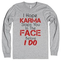 Karma-Unisex Heather Grey T-Shirt