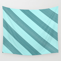 Sea Wave Tracks Wall Tapestry by RichCaspian