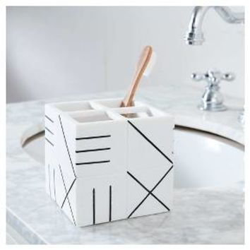 Bathroom Catchall Countertop Storage White & Black - Nate Berkus™