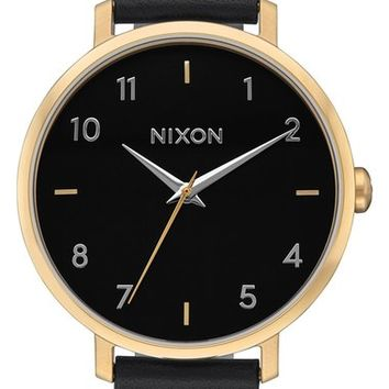 Nixon The Arrow Leather Strap Watch, 38mm | Nordstrom