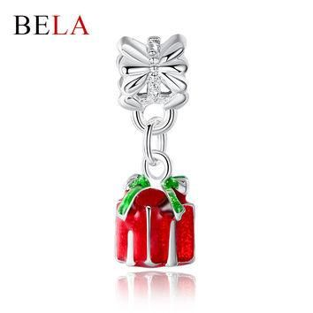 Christmas Beads 925 Silver Bead Cute Gift Pendant Charm Fit Pandora Bracelet Necklace
