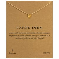 carpe diem pyramid necklace, gold dipped, 16 inch