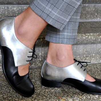 Florence - Womens Leather Oxfords, Cutout Oxfords, Handmade Shoes, Oxfords, Cutout shoes, Custom Shoes, FREE customization!!!