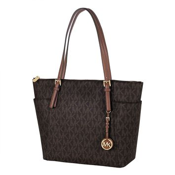 17c93ab71a64 Michael Kors Jet Set Item East West Pvc Tote