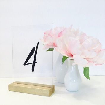 Table Number Holder Gold Card Holder Wedding Card Holder 5 inch Set of 10 For Restaurants Weddings Banquets by Gallery360Designs