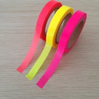 Set of 3 small bright washi tapes