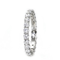 1 1/4ct Diamond Eternity Band Wedding Ring Anniversary Band Stacking Ring White Yellow Rose Gold