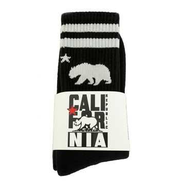 California Black Skater Socks