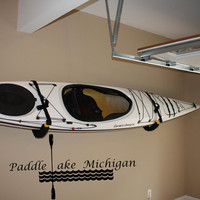 Paddle Lake Michigan-Explore Vinyl Wall Decor-Explore Michigan Decal-Adventure Wall Decor-Vinyl Wall Decal Sticker
