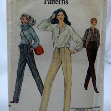 Vogue 7275 Misses' Pants pattern, uncut, Size C 10 thru 12