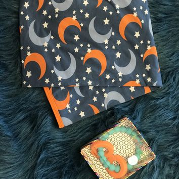 2018 Spring One Kickee Pants Twilight Moon & Stars  Swaddle Blanket