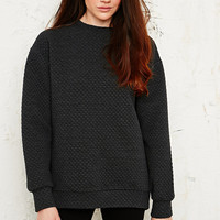 Sparkle & Fade Honeycomb Quilted Sweatshirt - Urban Outfitters