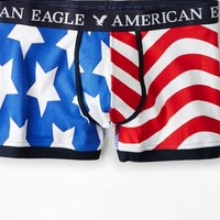 AEO Men's Stars & Stripes Low Rise Trunk (Cobalt Blue)