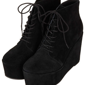 ALFF Lace Up Wedge Boots - New In This Week - New In - Topshop USA