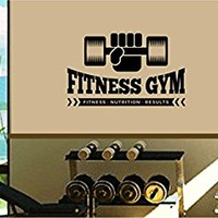 Dabbledown Fitness Gym Weightlifing Logo Version 102 Window Lettering Decal Sticker Decals Stickers