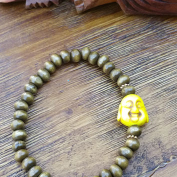 Original Collection- Yellow Buddha Beaded Hand Made Bracelet