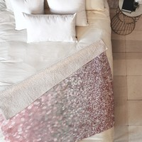 Lisa Argyropoulos Girly Pink Snowfall Fleece Throw Blanket
