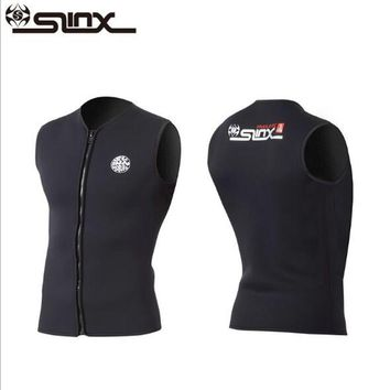 Slinx 3mm Neoprene Wetsuit Vest Men and Women For Kitesurfing Suit Diving Swimsuit Swimwear None Sleeve Inside