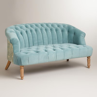 Cloud Blue Abigail Loveseat - World Market
