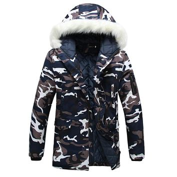 Camouflage JACKET MILITARY M-65 STYLE MENS ARMY field warm winter coat