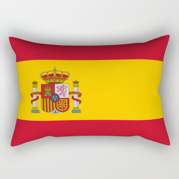 Flag of spain-spain,flag,flag of spain,espana,spanish,espanol,Castellano,Madrid,Barcelona, Rectangular Pillow by oldking