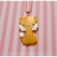 SALE Cardcaptor Sakura Kero Acrylic Necklace for Mahou Kei, Magical Girl Fashion, & Animal Familiar Lovers