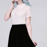 Peter pan collar shirt - sheer cream