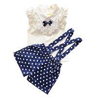 Girls Clothes Baby Girl Summer Clothing Sets 2pcs Sleeveless Blouse Bib Pants Outfits Toddler Girl Casual Clothes