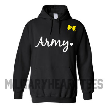Army sweatshirt, Custom Military Shirt for Air Force, Navy, Marines, Wife, Fiance, Girlfriend