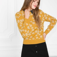 & Other Stories | Bloom Jacquard Sweater | Yellow