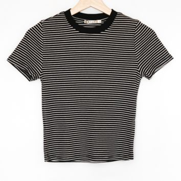 Striped Crop Ringer Tee