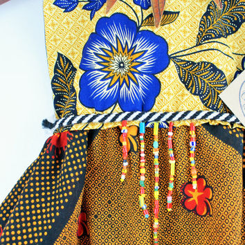 Zola Princess Dress | Bohemian Beaded Hand Crafted African Sustainable Fabric Dress