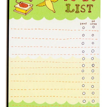 Hummingbird To-Do List Notepad