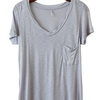 Kicking Around Shabby Tee, Periwinkle Gray - Conversation Pieces