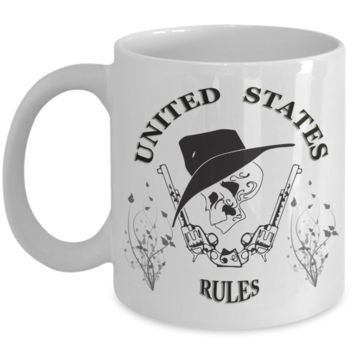 US RULES-MUG- PERFECT FOR OFFICE -HOME- AND MORE ON SALE TODAY- GET IT NOW